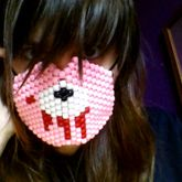 Finished Gloomy Bear Mask Picture #2