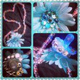 LED Electric Blue Daisy Passy I Made