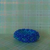 Blue 3d Cuff