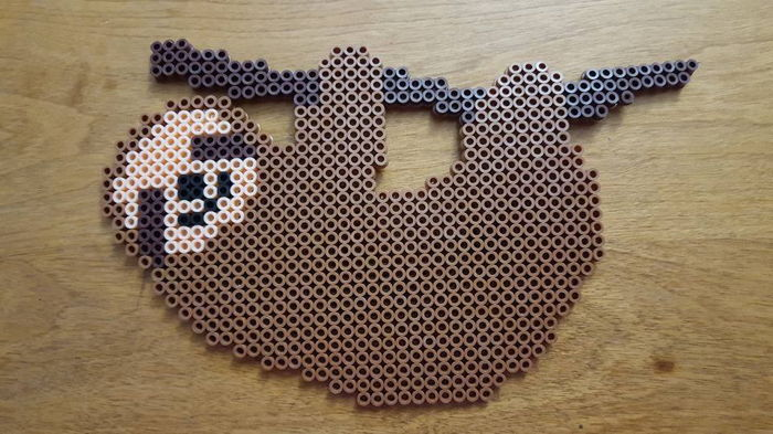 Sloth Perler By Ladyraveicorn Kandi Photos On Kandi Patterns