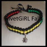 Rasta Inspired Kandi Choker Collar Necklace