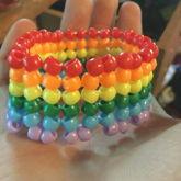 Rainbow Haringbone