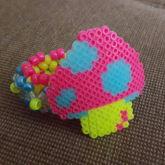 3D Mushroom Perler Cuff