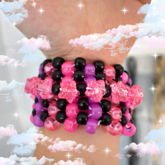 Neon And Black Odd Stitch (?) Mini Cuff