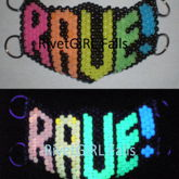 RAVE! Rainbow Glow-in-the-dark Mask By RivetGiRL Falls