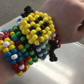 Smiley Face Rainbow Spiked Cuff