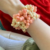 Peaches And Cream Inspired Cuff I Finished Earlier!!