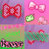 Pink And Green Bow Bracelet