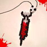 Syringe Peyote Charm Necklace