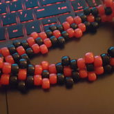 Red And Black Flower Chocker