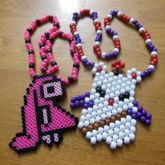 Atashi Rabbit & Moogle Necklaces
