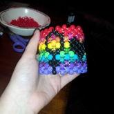 Lesbian Pride Cuff (glitter)