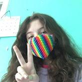 Rainbow Kandi Mask!