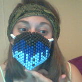 Black&Blue Drip Mask