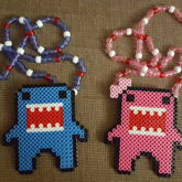 Blue & Pink Domo Couples Necklaces
