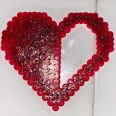 Homestuck Heart Aspect Perler