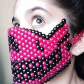 Skull Kandi Mask Pink & Black :)
