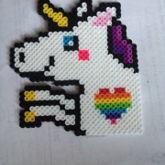 Derpy Unicorn Perler