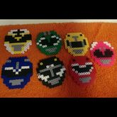 Mighty Morphing Power Rangers Perlers