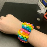 Rainbow Pac-man Ghost Cuff!