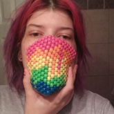 Rainbow Melted Mask
