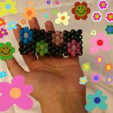 Rainbow Flowers Multistitch Cuff
