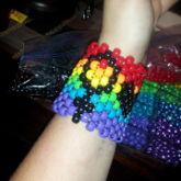 Lesbian Pride Cuff
