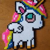 Stoned Unicorn/Pegasus Perler