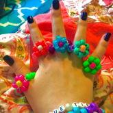 Kandi Flower Rings