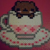 Chocolate Brown Kitty In Teacup