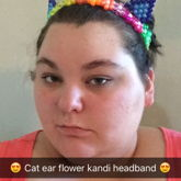 Cat Ear Flower Kandi Headband