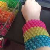 Large Pansexual Pride Cuff <3