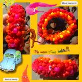 Pink Worm Cuff