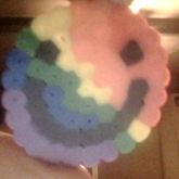 Perler Rainbow Smileface Emoji
