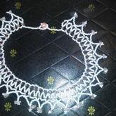 Rose Quartz Accented Net Stitch Necklace