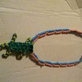 Rainbow Loom Gecko On A Kandi Dubble Neckeless