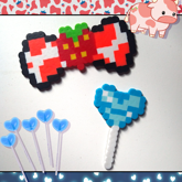 Strawberrycow Bow And Heart Lollipop
