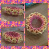 Pink Orange And Yellow 3D Cuff
