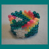 Neon Shooting Stars Kandi Cuff Bracelet Made By RivetGiRL Falls
