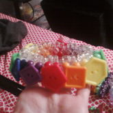 Rainbow Button Cuff