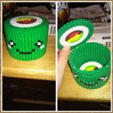 Sushi Roll Perler Box