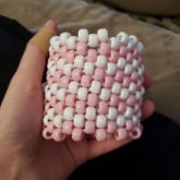 Pink And White Striped Cuff