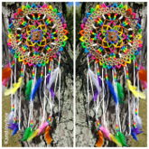 Rainbow Kandi Dreamcatcher