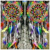 Rainbow kandi dreamcatcher