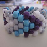 White, Gray, Blue, And Purple Arrow Cuff