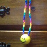 Rainbow Smiley Necklace