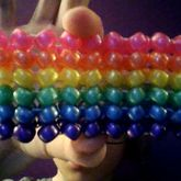 Shiny Rainbow Herringbone Cuff C: