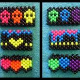 Black And Neon Cuffs