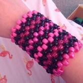 Pink And Black Cuff :]