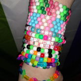 heres all the kandi ive made so far!